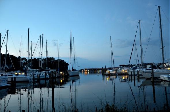 Sailboats at Dusk